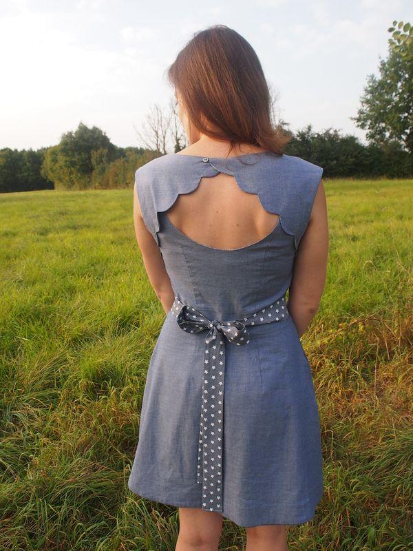 belladone dos festonné et ceinture amovible