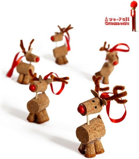 Wine Cork Reindeer - *Inspiration only, no pattern or instructions*