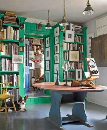 Perfect! My home library will be painted Kelly green.