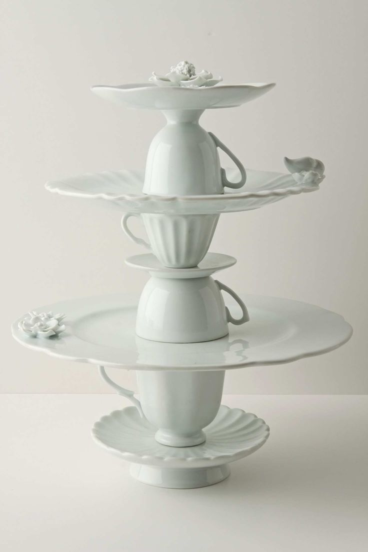 Tea cup cake stand £138 from Anthropologie, pretty sure I could make this for less than $10