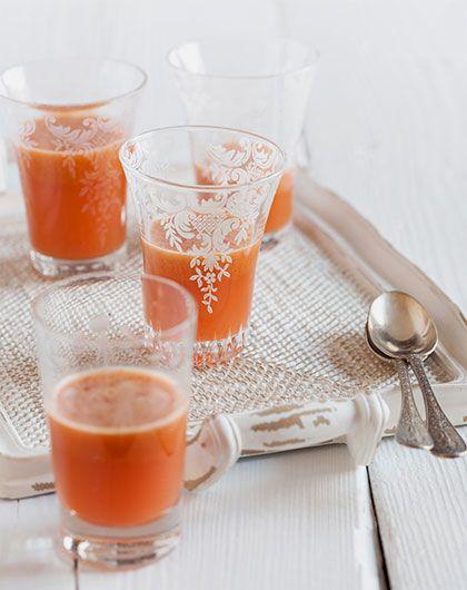 Estratto di carote, mele e zenzero