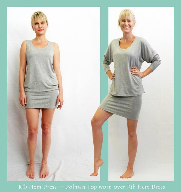 Ribbed hem Dress and Dolman Top - WEISS Cape Town