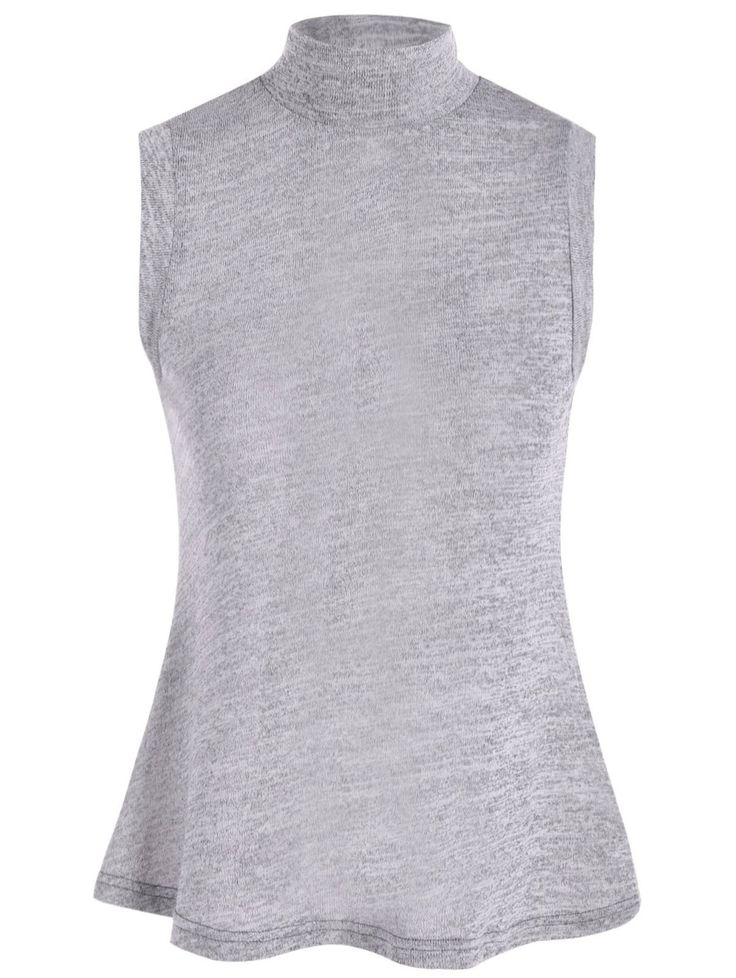 High Collar Slit Back Sleeveless Sweater #shoes, #jewelry, #women, #men, #hats, #watches