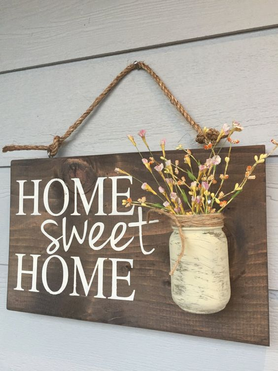 Wood Sign Design Ideas 1000 ideas about rustic wood signs on pinterest wood signs signs Mason Jar Home Sign Home Sweet Home Sign Rustic Home Sign Hand Painted Home Sign Rustic Home Decor Outdoor Home Sweet Home Sign