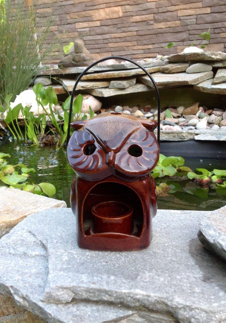 SALE-FREE SHIPPING-Vintage Groovy Inarco Japan Ceramic Owl Lantern-Hippie-Gypsy-Retro-Bohemian-Mid Century-Farmhouse-Cottage-Nature-Earthy by ellansrelics02 on Etsy https://www.etsy.com/listing/281844564/sale-free-shipping-vintage-groovy-inarco