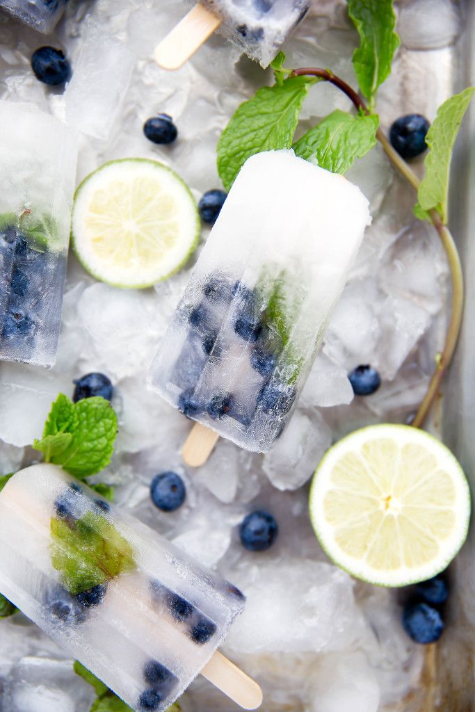 Blueberry Mojito Popsicles - Get your booze on with these thirst-quenching popsicles!