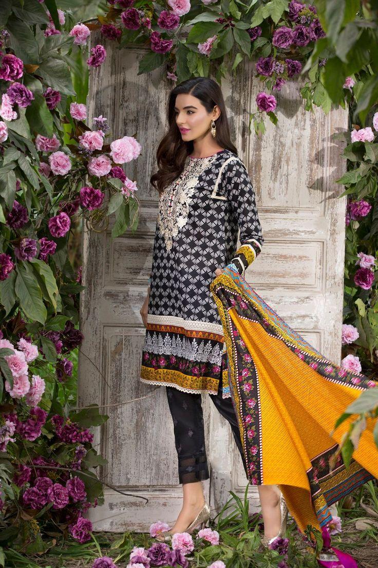 Alkaram Lawn suit Front-Back-Bazu-Dupatta Broshia Dupatta Code SS-112 Whatsapp for order 03217399910