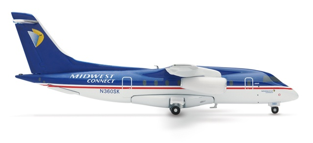 Herpa Wings 551717 Midwest Express Dornier 328 1/200. From my favorite airline. RIP, Midwest.
