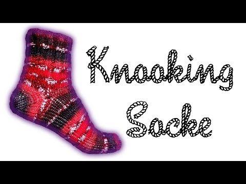 """Wooly Tricks"" Socken Knooking Anleitung / Strickanleitung - YouTube"