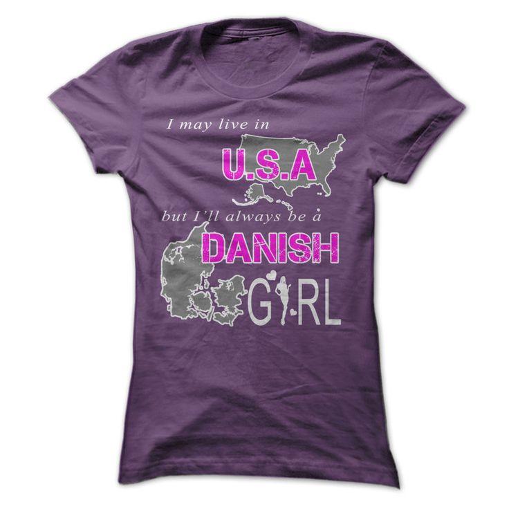 Danish girl in U.S.A T Shirt, Hoodie, Sweatshirt