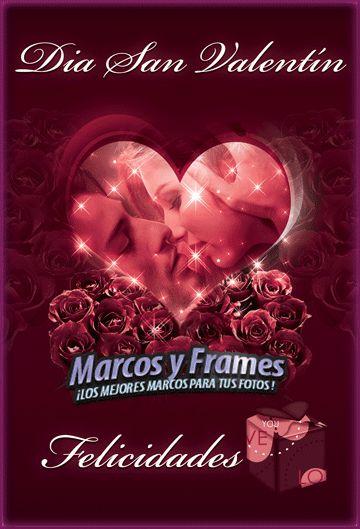 Tarjeta San Valentín con Corazón. - Fondos para Fotos y Foto Montajes en alta calidad.