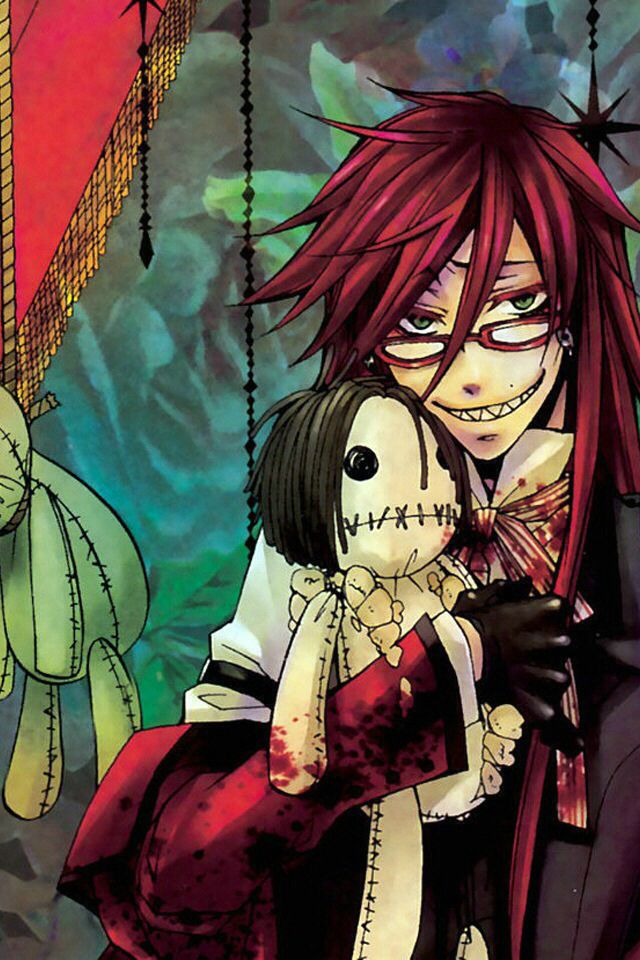 grell and a stuffed sebby