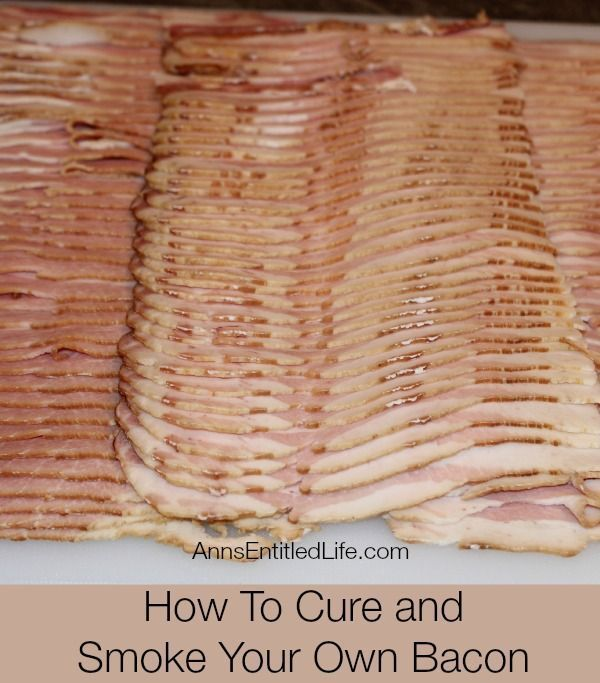 "Great just in time!!!How To Cure and Smoke Your Own Bacon; Step by step instructions and photographs on How To Cure and Smoke Your Own Bacon including: preparation, temperature settings, and the actual smoking and cooking of the meat. <a href="""" rel=""nofollow"" target=""_blank"">www.annsentitledl...</a>"