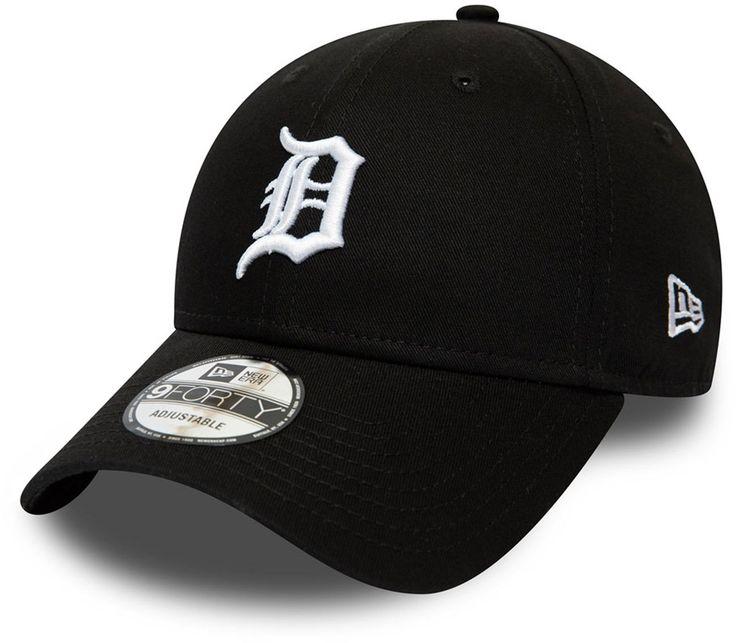 Detroit tigers new era 940 league essential black baseball