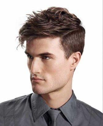 mens cut, short on sides, long on top - medium length mens cut