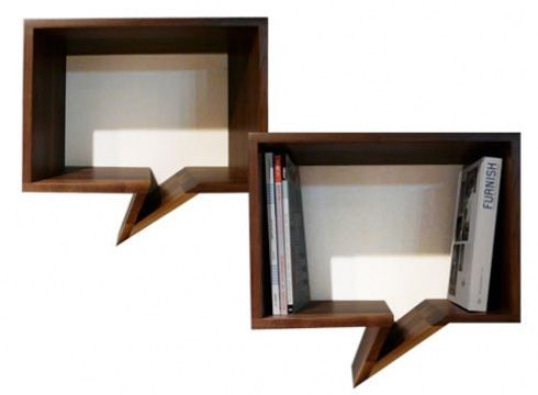 """Imagined by the designer Oscar Nunez for Mexican Fusca Design the """"Comic Shelves"""" is a simple, but creative idea that looks really good. This idea would be"""