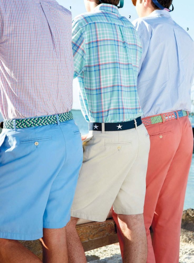 Vineyard Vines Summer Shorts Belts And Shirt Combos