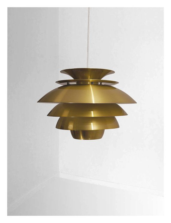 Incredibly beautiful danish vintage lamp from the mid century on Etsy, $318.88