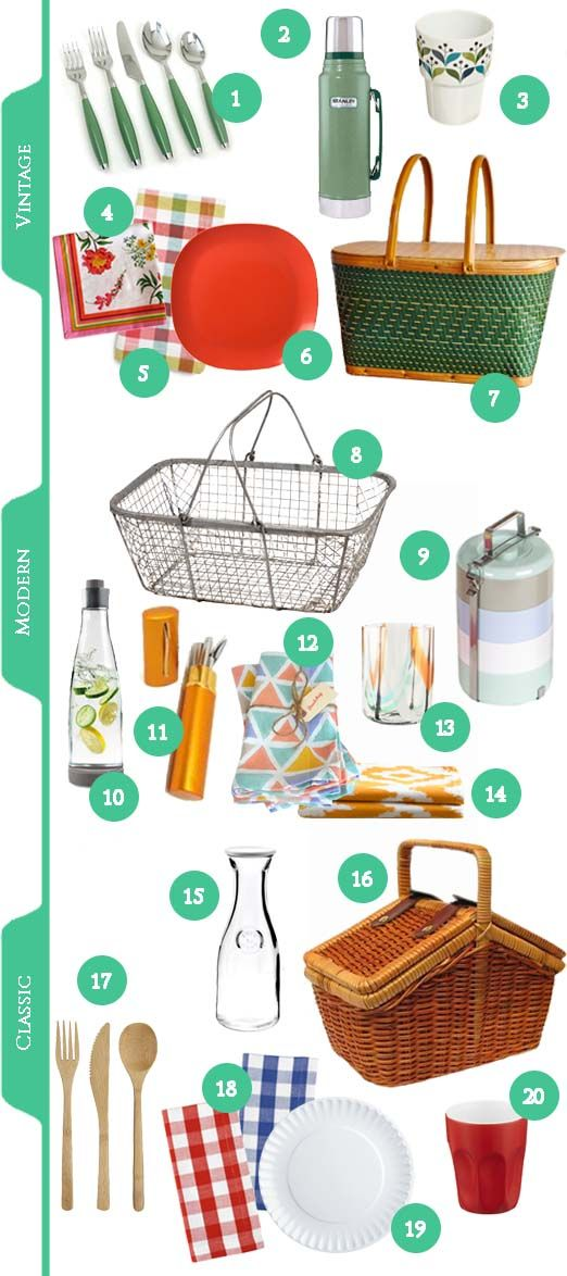 PICNIC CHECKLIST - Perfect for those absent-minded picnic-planners in your life. Siliverware? Check! Napkins? Check! Three different kinds of woven baskets? Duh!