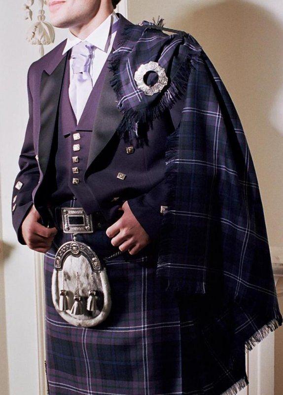 formal look with Prince Charlie jacket & tartan fly plaid