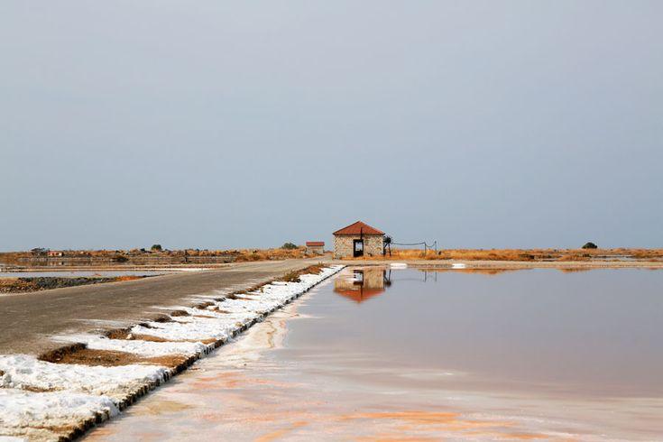 De zoutpannen van Mesolonghi, Griekenland