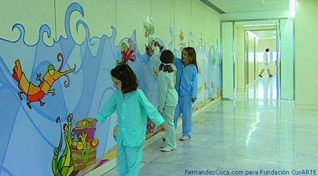 """Ya vimos la decoración del Hospital 12 de Octubre de Madrid con el proyecto de Disney """"Hospital de Colores"""" que también existe en la Fe de Valencia."""