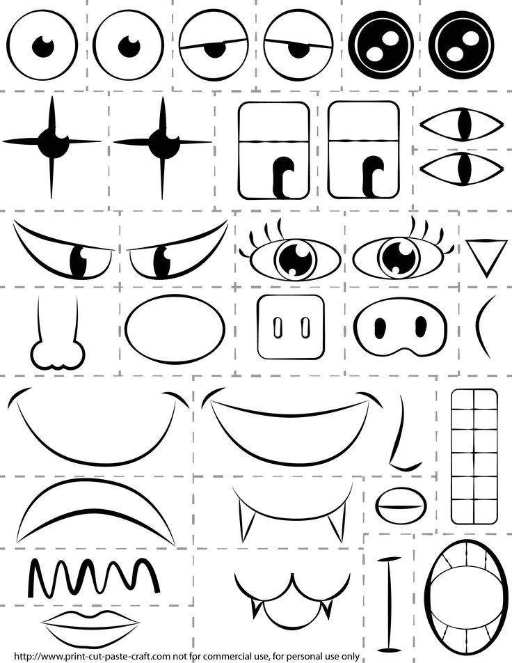make a face printable - Google Search