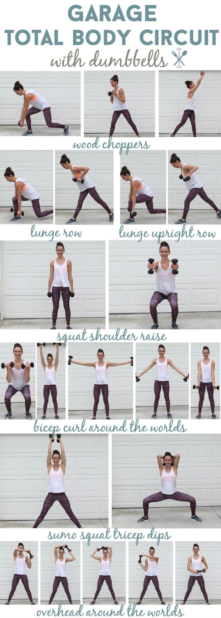 This total body workout with dumbbells is one you can complete at home in your garage, or if you hit the gym! All over toning and sculpting #weightlossbeforeandafter