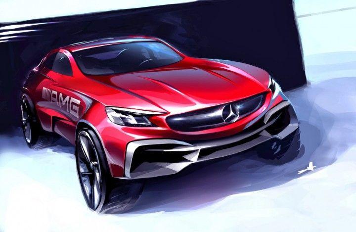 Mercedes-Benz AMG Concept Design Sketch by Zac Wang Design