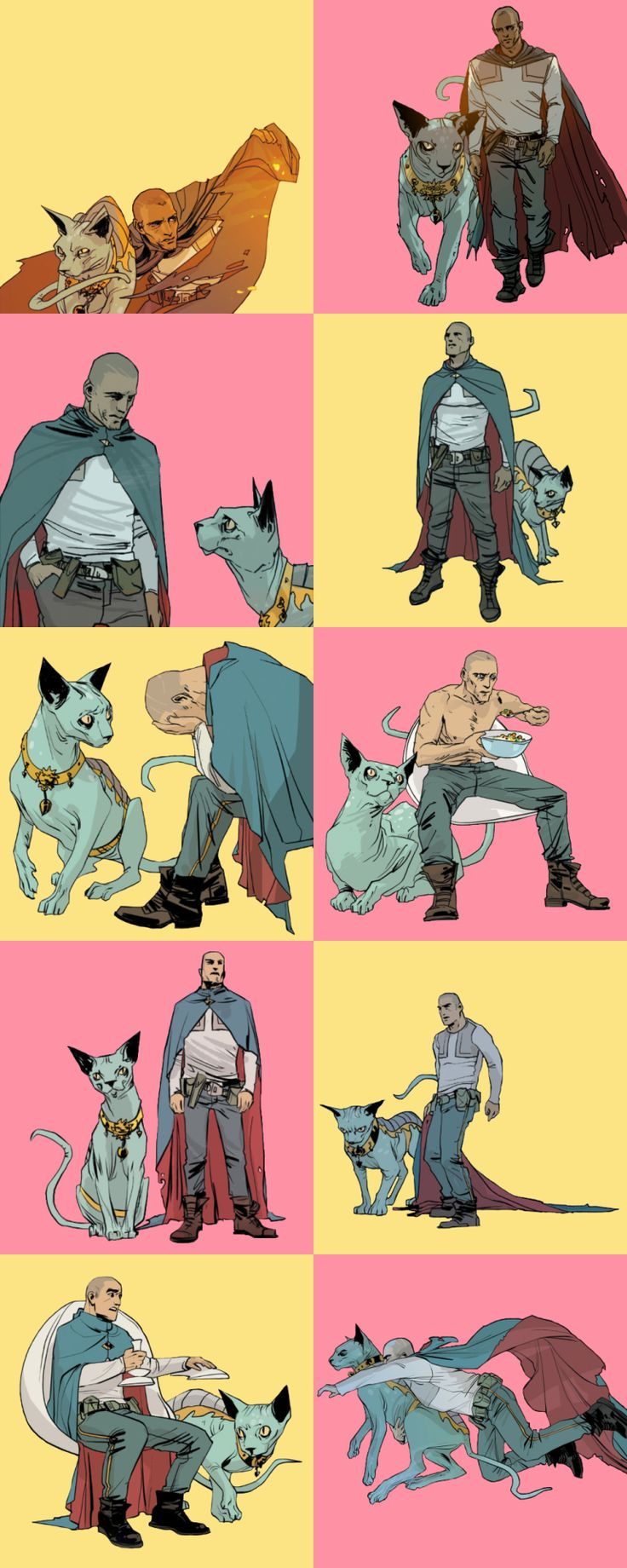 Saga: The Will and Lying Cat by Fiona Staples