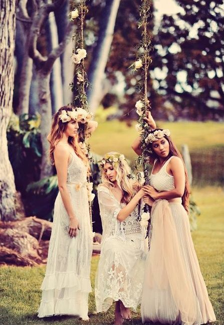 CA- LOVE this look for bridal party fairytale wedding