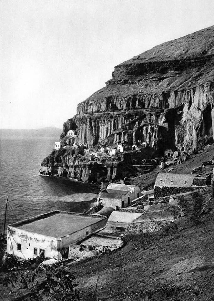 Santorini island (Fira) at the start of 20th century