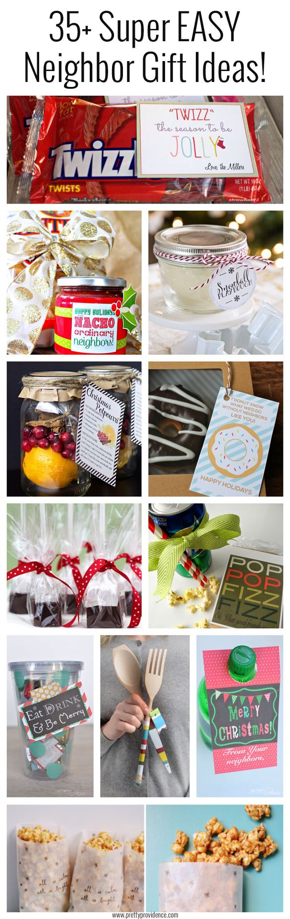 I LOVE all these neighbor gift ideas! Nothing beats cute, thoughtful and EASY! Best list I've seen...