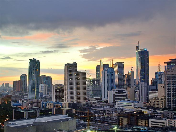 Makati City, Manila, at dusk