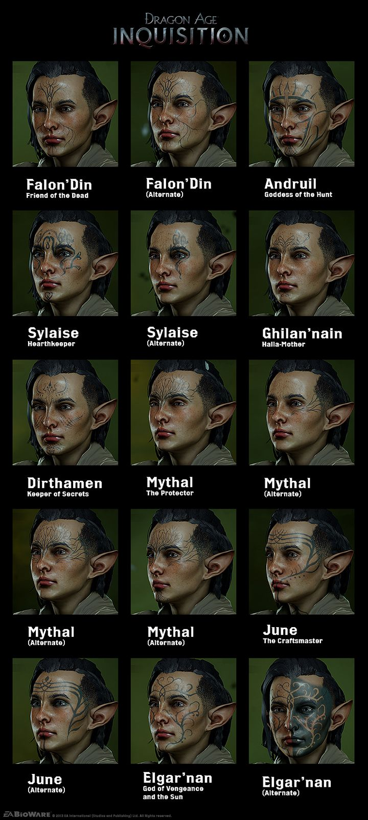 Dalish Tattoos Mike Laidlaw turned his override key, allowing me to put these up.