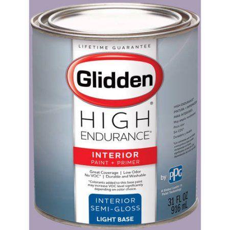 Glidden High Endurance Interior Paint And Primer Light French Lilac 50rb 39 138 Semi Gloss 1 Gallon Purple Interior Paint Glidden Egg Shells
