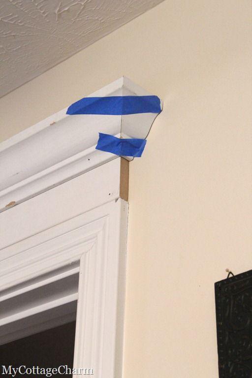 How to Add Molding to Your Doors- Door Header Tutorial  http://www.mycottagecharm.com/2011/08/how-to-add-molding-to-your-doors-door.html