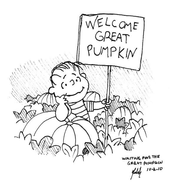 linus great pumpkin coloring pages - photo#5