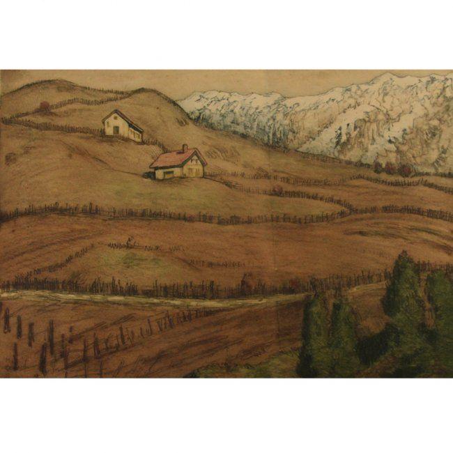 Hermann Struck - Landscape, Color Etching. : Lot 43