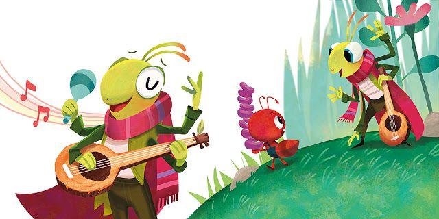 قصص عالمية قصة النملة والصرصور Book Illustration Art Animal Illustration Animal Doodles