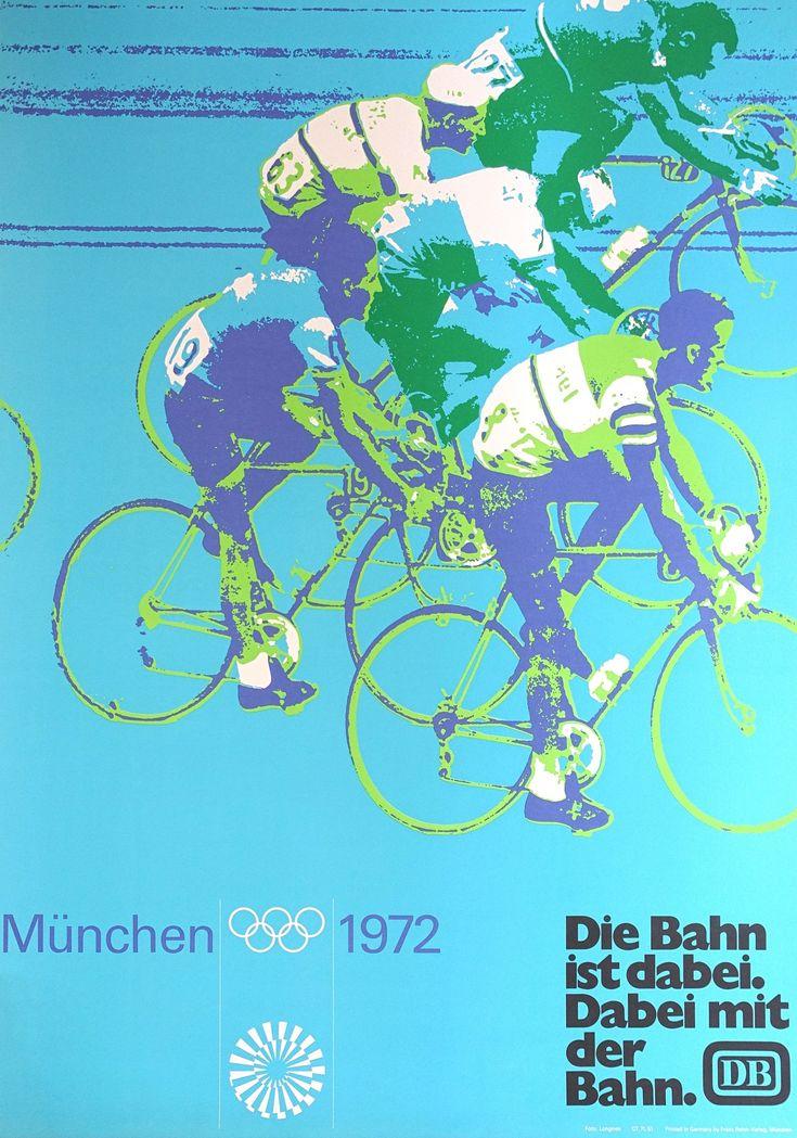 1972 Summer Olympics Munich Cycling Original Vintage