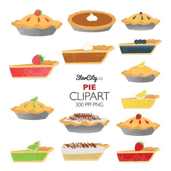 Pie Clipart Fruit Pie Clip Art Pie Graphics Food Clipart Etsy Food Clipart Clip Art Fruit Pie