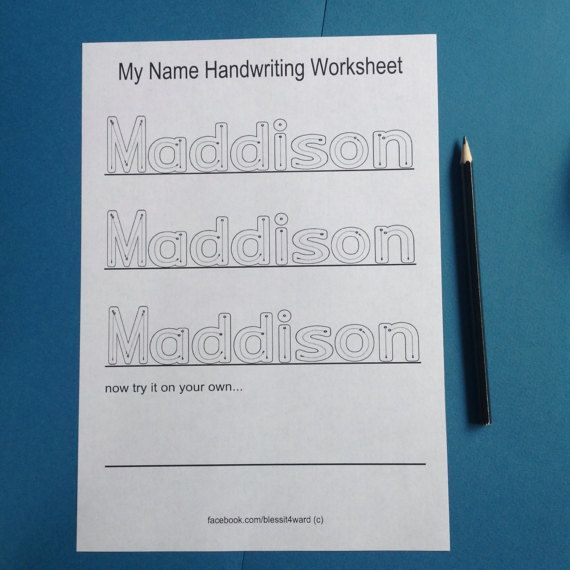 Personalised my name handwriting worksheets  by BlessItForward