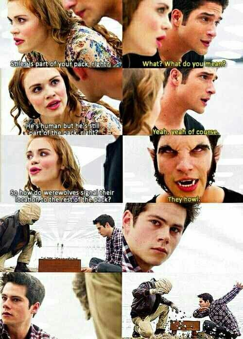 This was a great scene but i can't stop laughing at how it looks likes stiles is dabbing in the last pic