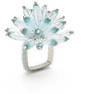 Kim Seybert Constellation Seafoam/Crystal Napkin Ring