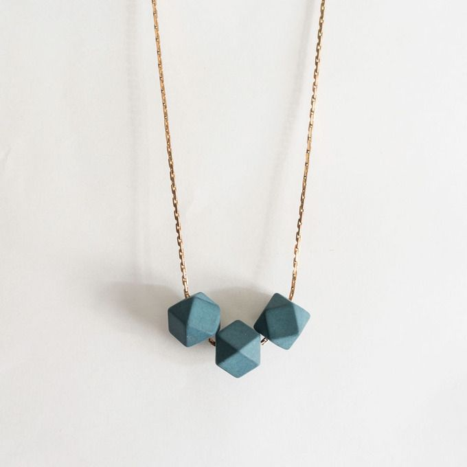 Hex bead necklace