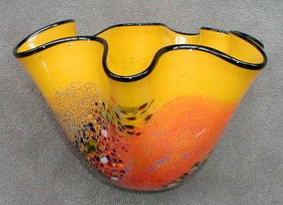 Wavy Yellow Vase