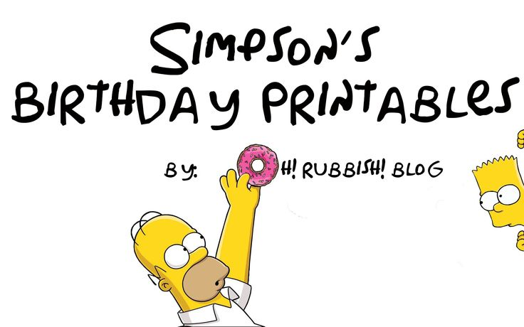 Simpsons Birthday Party Ideas :: Bart Simpson :: Homer :: Birthday Banner & Duff Beer Printables ::