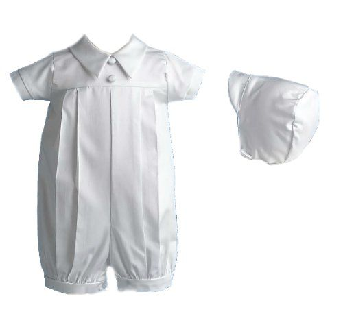 Lauren Madison Baby boy Christening Baptism Special occasion Infant Polished cotton Short