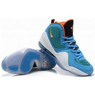 www.asneakers4u.com Nike Air Penny 5 Penny Hardaway Shoes Blue/Green/White